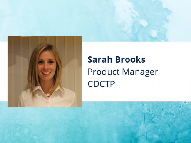Work profile of Sarah Brooks, listing her job as product manager within CDCTP.