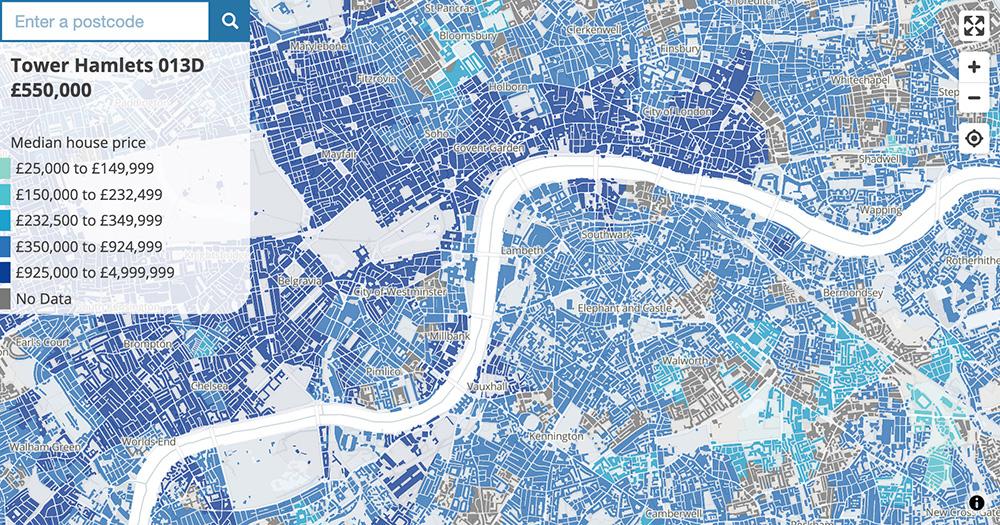 Mapbox GL JS small area mapping template